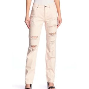 BLANK NYC Pink Denim Ditz Ripped Jeans
